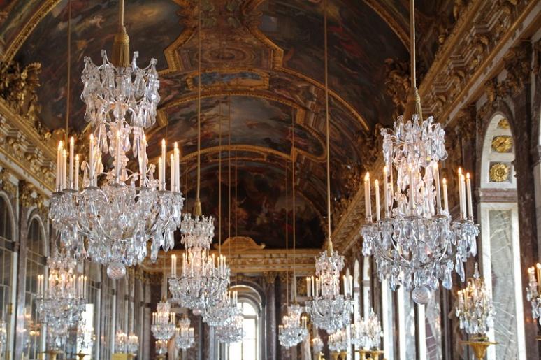 Château de Versailles. La galerie des Glaces.