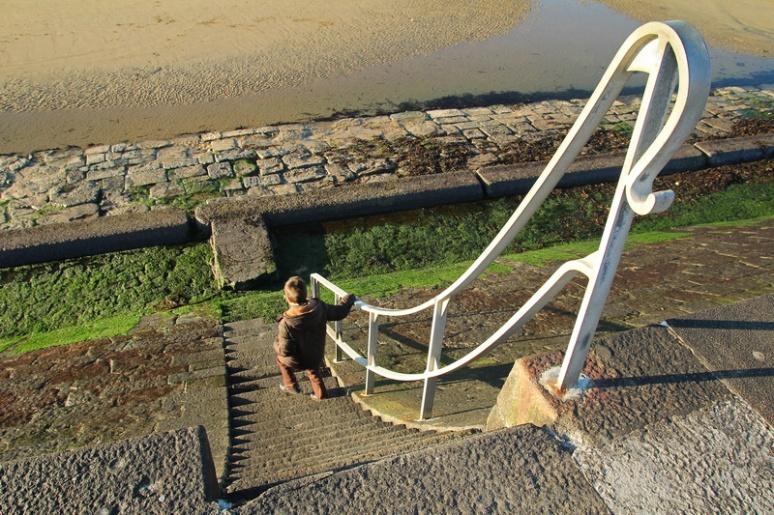 La digue de Rochebonne, à Rothéneuf (Saint-Malo).