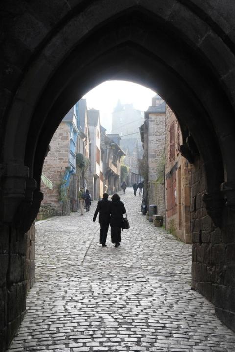 Dinan, la porte du Jerzual.