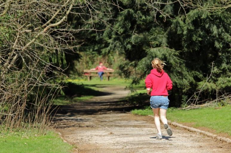 Jogging au parc des Gayeulles (Rennes).