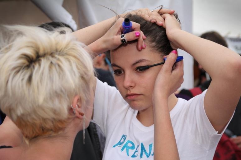 Maquillage (Marche LGBT 2013 de Rennes)