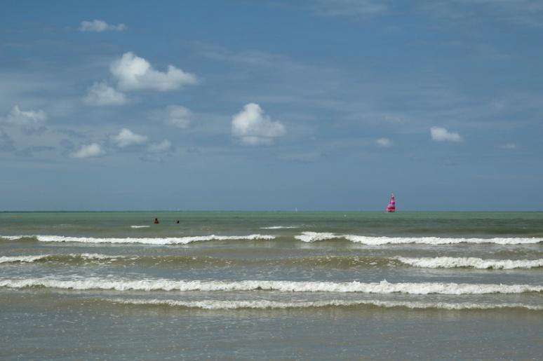 La vue depuis la plage de Saint-Pair-sur-Mer