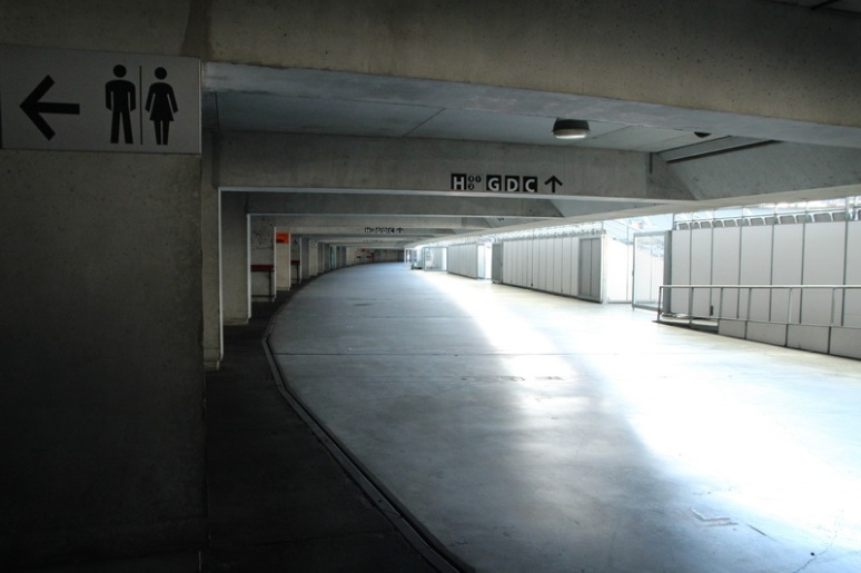Saint-Denis. Le couloir périphérique bordant les tribunes du Stade de France.