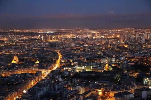 Paris. Vue depuis la terrasse panoramique (59ème étage) de la Tour Montparnasse.