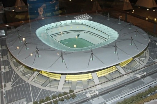 Saint-Denis. Maquette du stade dans le musée du Stade de France.