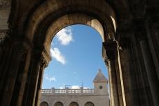 Paris, Montmartre. Dans l'entrée de la Basilique duSacré-Cœur.