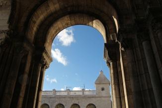 Paris, Montmartre. Dans l'entrée de la Basilique du Sacré-Cœur.