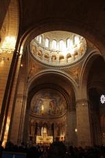 Paris, Montmartre. Dans la Basilique duSacré-Cœur.