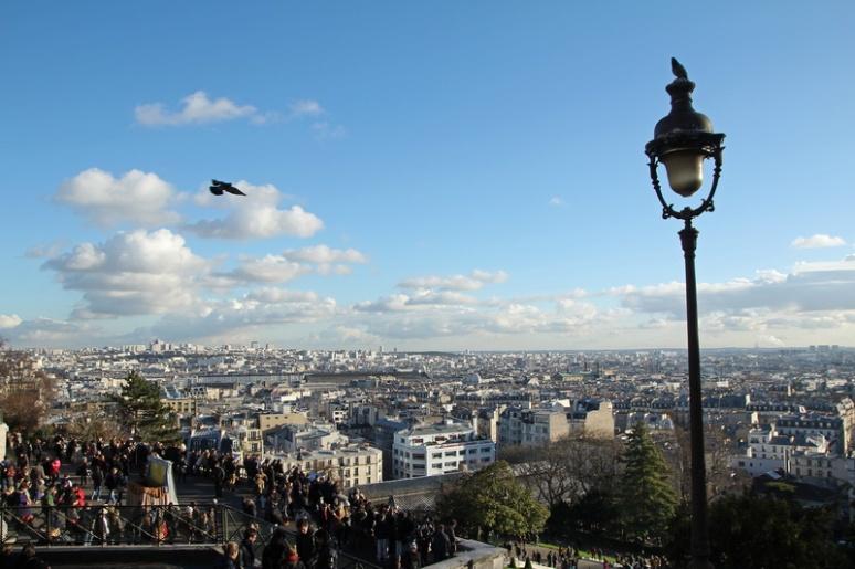 Paris, Montmartre. Vue sur Paris depuis le Parvis du Sacré-Cœur.