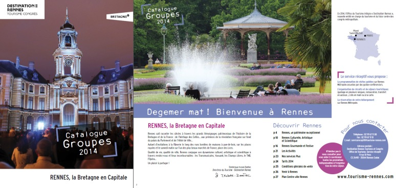 Catalogue Groupe 2014 - Office du Tourisme de Rennes