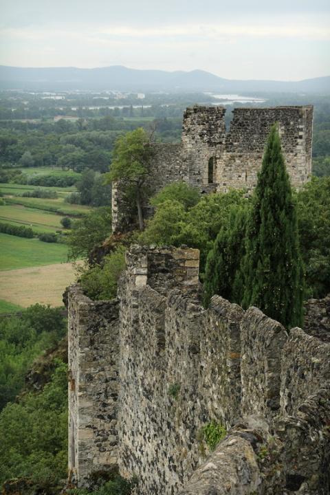 Ruines du château de Rochemaure (France, Ardèche)