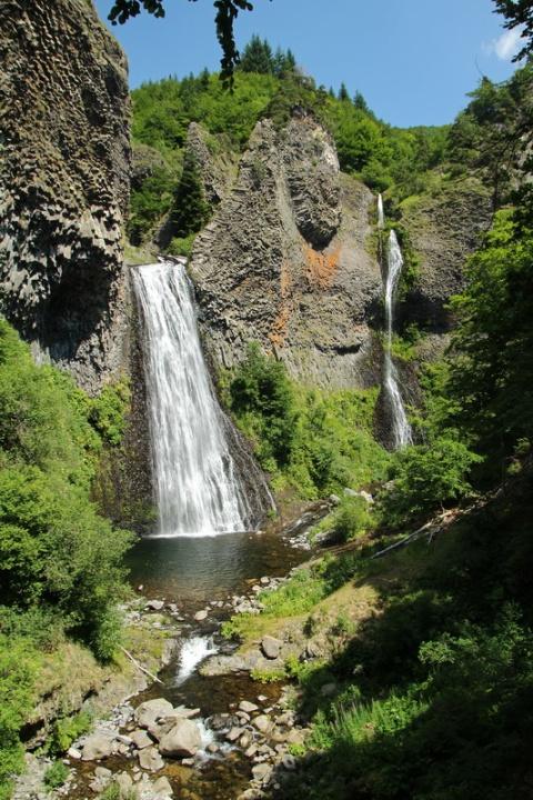 Cascade du Ray-Pic à Péreyres (France, Ardèche)