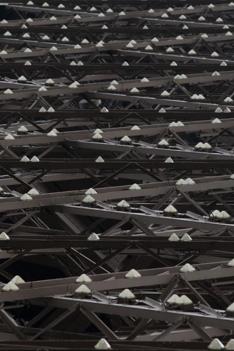 Paris - Les ampoule scintillantes de la Tour Eiffel.