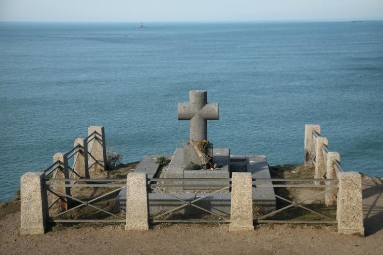 Saint-Malo - Tombe de François-René de Chateaubriand sur l'île du Grand-Bé