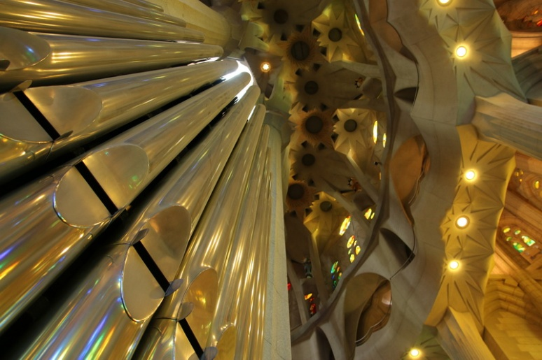 L'orgue de la Sagrada Familia (Barcelone, Espagne)