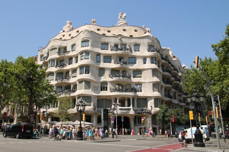 La Casa Milà (Barcelone, Espagne)