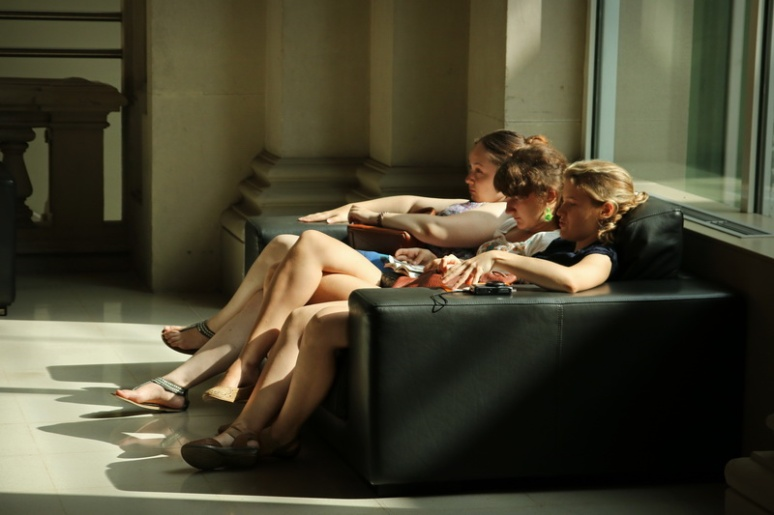 Grosse fatigue au Musée National d'Art de Catalogne (Barcelone, Espagne)