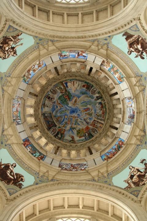Plafond du Musée National d'Art de Catalogne (Barcelone, Espagne)
