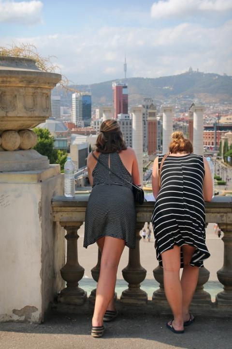 Barcelone, sur la colline de Montjuïc.