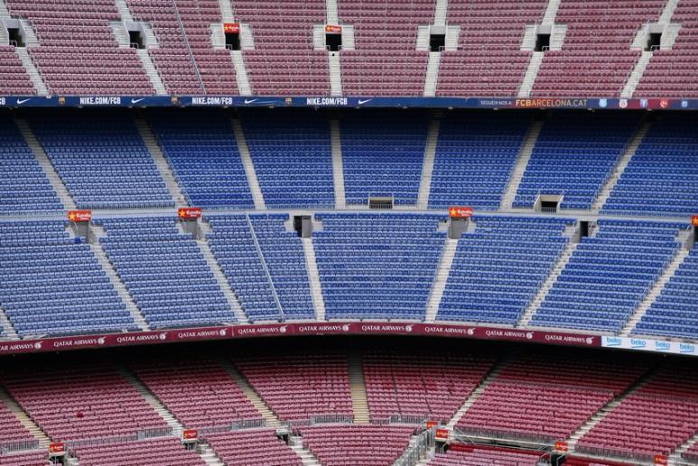 Le stade du Camp Nou (Barcelone, Espagne)
