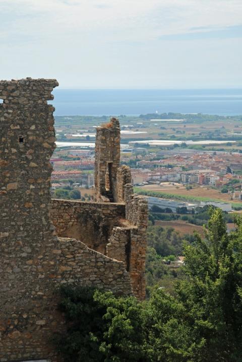 Le château de Palafolls (Espagne).