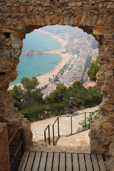 Blanes (Espagne). Vue sur Blanes depuis le château Sant Joan.
