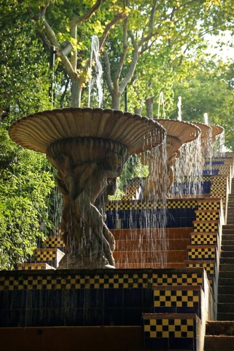 Fontaines du Passeig de Jean Forestier (Barcelone, Espagne)