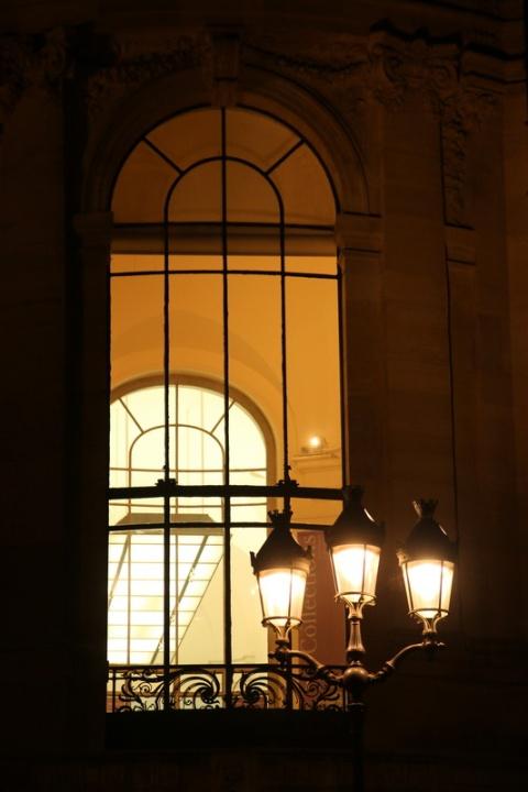 Une fenêtre du Petit Palais, à Paris.
