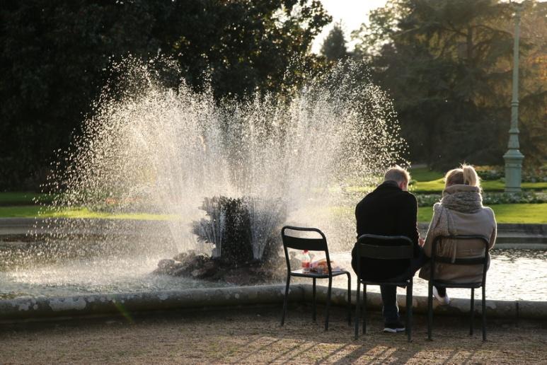 Pause au parc du Thabor (Rennes, Novembre 2015)