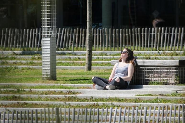 Rennes (Ille-et-Vilaine), Quai Saint-Cyr, mai 2016.