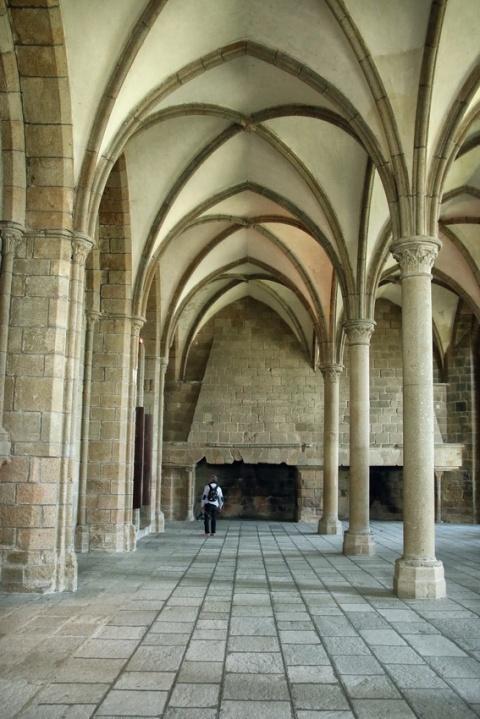 L'abbaye du Mont-Saint-Michel : La salle des Hôtes