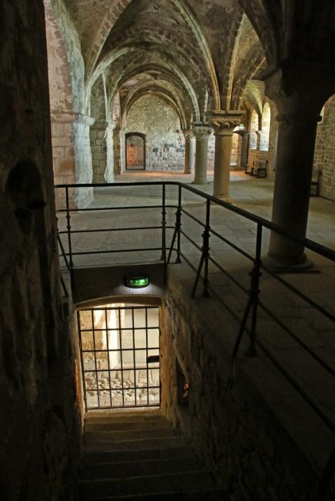 L'abbaye du Mont-Saint-Michel : Le promenoir.