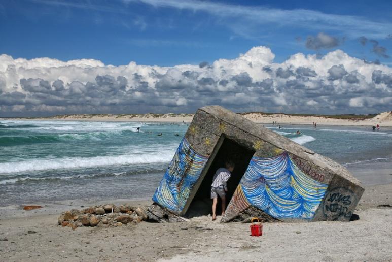 Plomeur, plage de la Torche (Finistère).