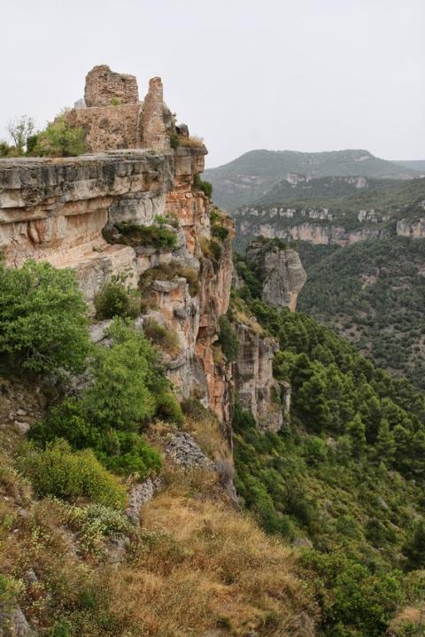 Siurana de Prades (Espagne, Catalogne). Les ruines du château arabe.