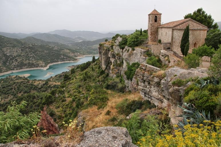 Siurana de Prades (Espagne, Catalogne). L'église romane.