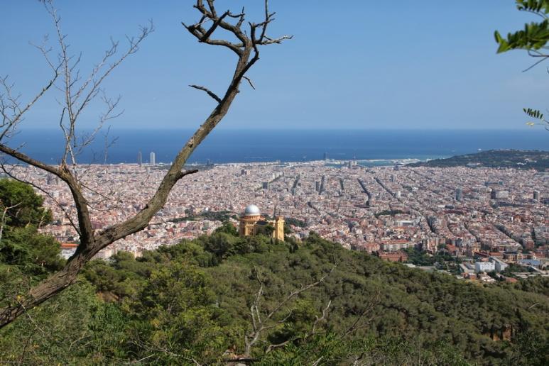 Barcelone vu depuis le Tibidabo.
