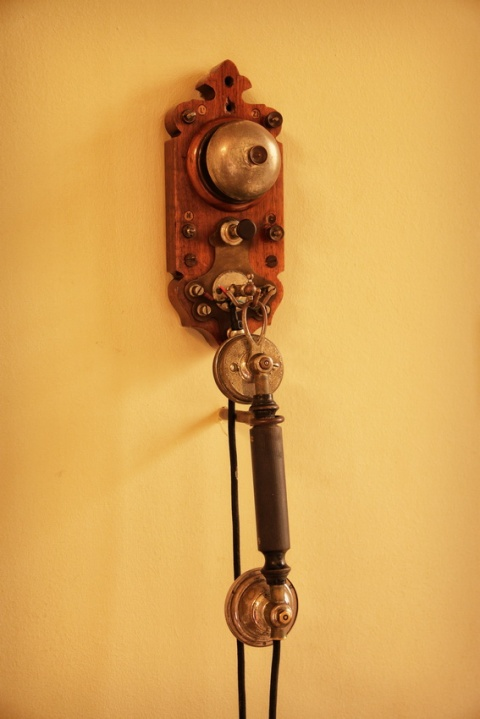 Interphone d'un appartement de la Pedrera ou Casa Milà, à Barcelone.