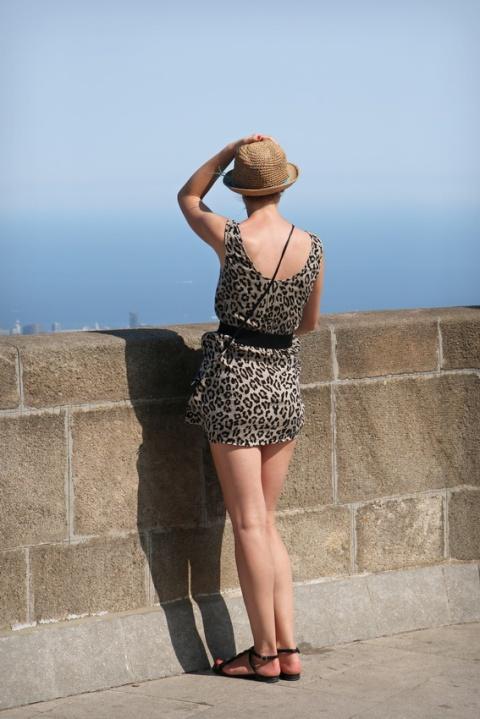 Vue depuis le Tibidabo, à Barcelone (Espagne).