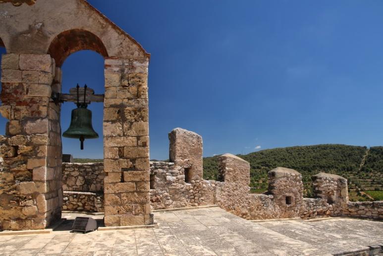 Calafell (Espagne). Sur le rempart du château de la Santa Creu.