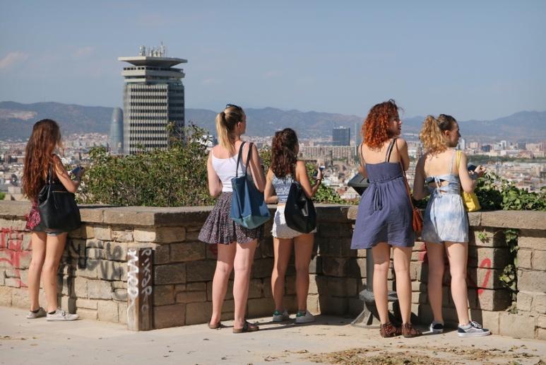 Barcelone (Espagne), sur la plaça de l'Armada.