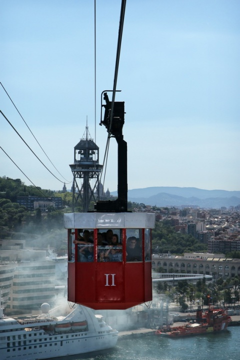 Barcelone (Catalogne, Espagne), le téléphérique du Port.