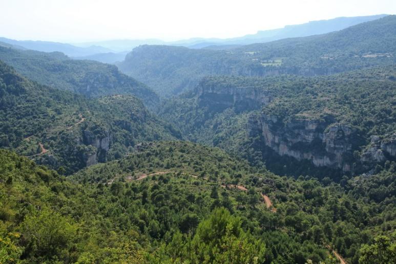 Entre La Febró et La Mussara (Catalogne, Espagne).