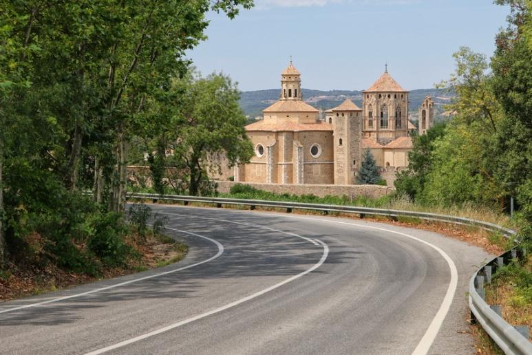 Le Monastère de Poblet (Catalogne, Espagne).