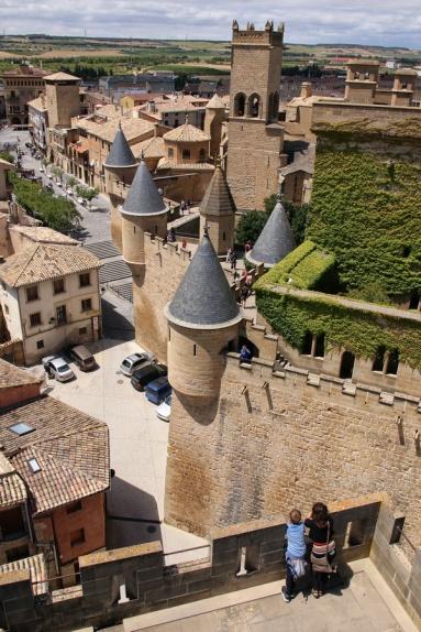 Le château des rois de Navarre (Olite, Espagne).