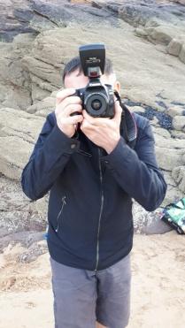 Moi, photographiant Henri.